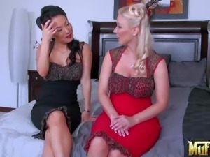 Molly Cavalli and Asa Akira are horny delicious lesbian babes.