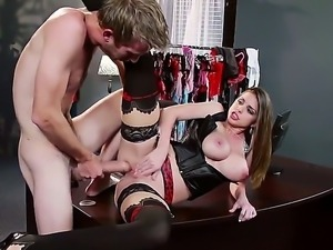 Young hottie Brooklyn Chase enjoys having hunk Danny D pounding her hard