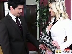 Schoolgirl Sienna Day fucked a teacher