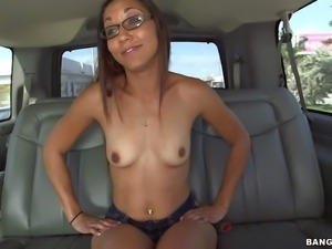 Tall provocative sexy with long sexy legs and cheep make up takes off tight...