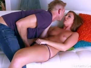Gorgeous and sensual brunette honey Maddy Oreilly enjoys in seducing her good...