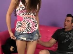 stepdad and stepdaughter give each other rimjobs