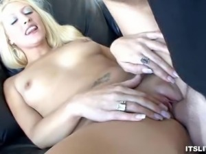We have this blonde babe in this clip as she gets fucked hard by his stud....