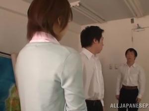 japanese teacher gets groped by men