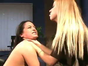Hardcore domineering action. Staring Barbie Pink and Nikky Thorne. A...