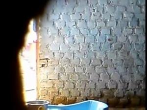 Stupid boy record elder sister bathing
