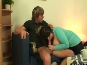 Chubby mature bitch gets her fat pussy pounded