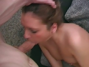 Blonde newbie gags for thick cock