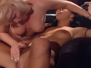 Awesome blonde milf gets horny and fucked hot young girl.