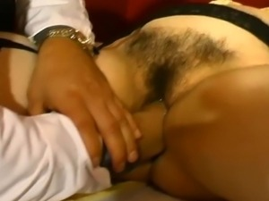 Brunette housewife didnt know about these crazy insertions at the gynecologist