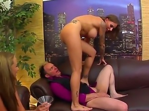 Attractive brunette beauty Juelz Ventura with huge firm hooters and slim sexy...