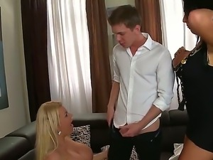 Long haired heavy chested blonde and smoking hot bitch Ava Koxxx and Tiffany...