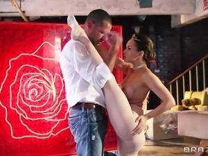 superb ballerina kneels like a whore
