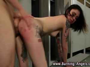 Tattooed emo bitch gets fucked