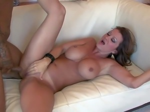Raquel DeVine is a perfect bodied fuckilicious milf with big round tits and...
