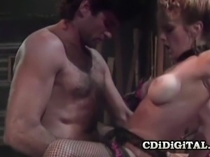Cute horny babe Shayla LaVeaux gets her pussy pleasured in the bar.