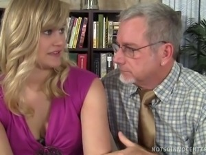 Blonde bombshell fucked by teacher