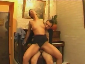 Dutch fantasy with a brunette and nasty cumshot!