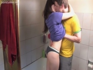 Couple having sex in the shower (Anais & Link) free