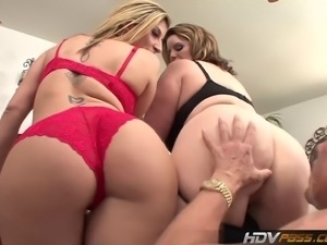 These two bangin MILF babes love to suck a nice juicy cock. Watch as they...