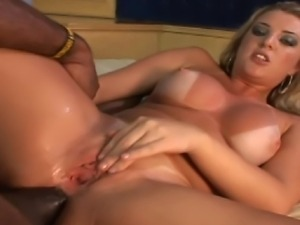 Babe gets crazy monster cock hard fuck and deep oral