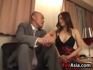 Beautiful Japanese whore loves getting fucked hard