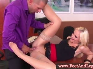 Vanda Lust has feet creamed on after fucking cock