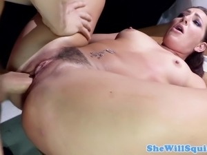Squirter Savannah Fox screams during sex loudly and hard