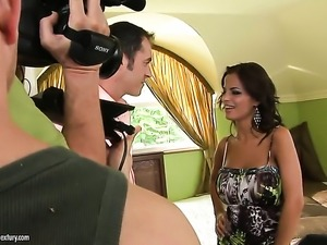 With big breasts shows her love for pussy rubbing