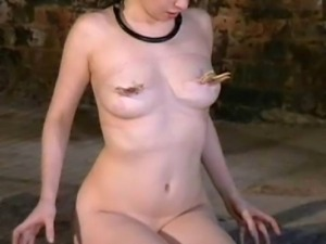 Caged asian slavegirl Kumimonsters tit torture and dungeon slavery of bald...