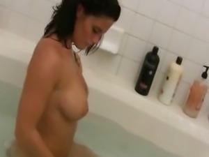 My Hot Mom Filmed Naked In The Bathroom