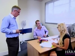 Blonde stunner Carla Cox proves she knows her job and proves her bosses what...