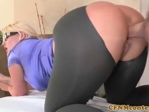 CFNM babe Julie Cash POV doggystyle fuck with her customer