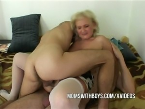 Old Horny Slut Seduces IT Nerds free