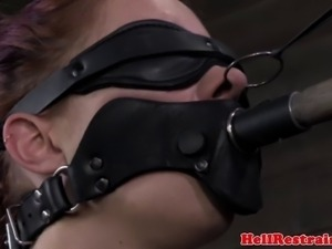 Pale slave gets tormented in a brutal way by her master