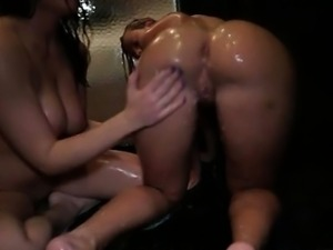 Dirty lesbians go crazy making out