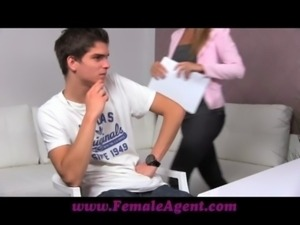 FemaleAgent Stud can't handle the pressure to perform free