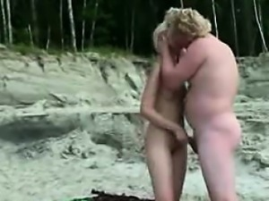 Public Swinger sex on the Nude Beach