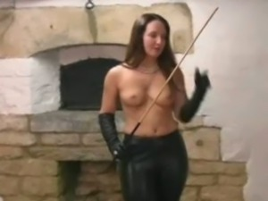 Sammi loving her leather gloves