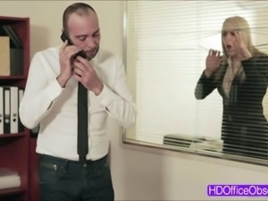 Horny blonde babe Christen Courtney gets fuck hard by h