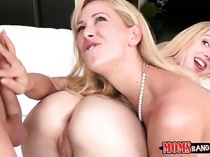 Blonde Cherie Deville with big boobs and smooth pussy gives Van Wildes hole a...