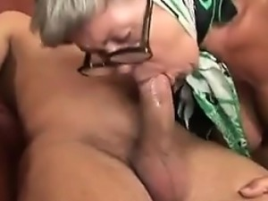 Busty Granny Banging With A Young Guy