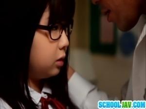 Schoolgirl Aimi in hardcore action free