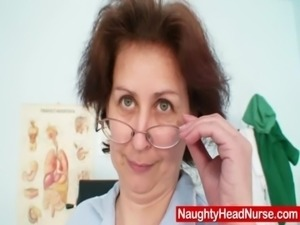 Aged head nurse gets naughty in hospital free