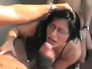 Facial For A Latina Outside In Public