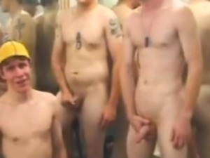 Straightbait army boys jerkoff against mirror