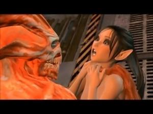 3D CGI Monster Sex free