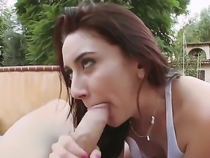 Mandy Muse is a brunette chick with real cock sucking skills. She will suck...