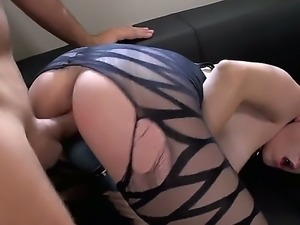 Watch Luna Kitsuen in this gothic porn where she is wearing black makeup and...