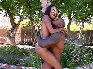 Petite teen babe with hipster glasses on skin diamond wants to prove her...